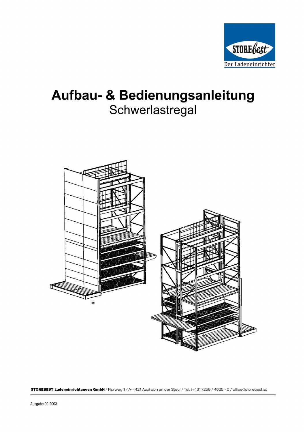 montageanleitung storebest schwerlastregal slr by storebest ladeneinrichtungen gmbh issuu. Black Bedroom Furniture Sets. Home Design Ideas