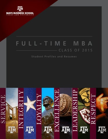 Full-Time MBA Class of 2015 by Mays Business School - issuu