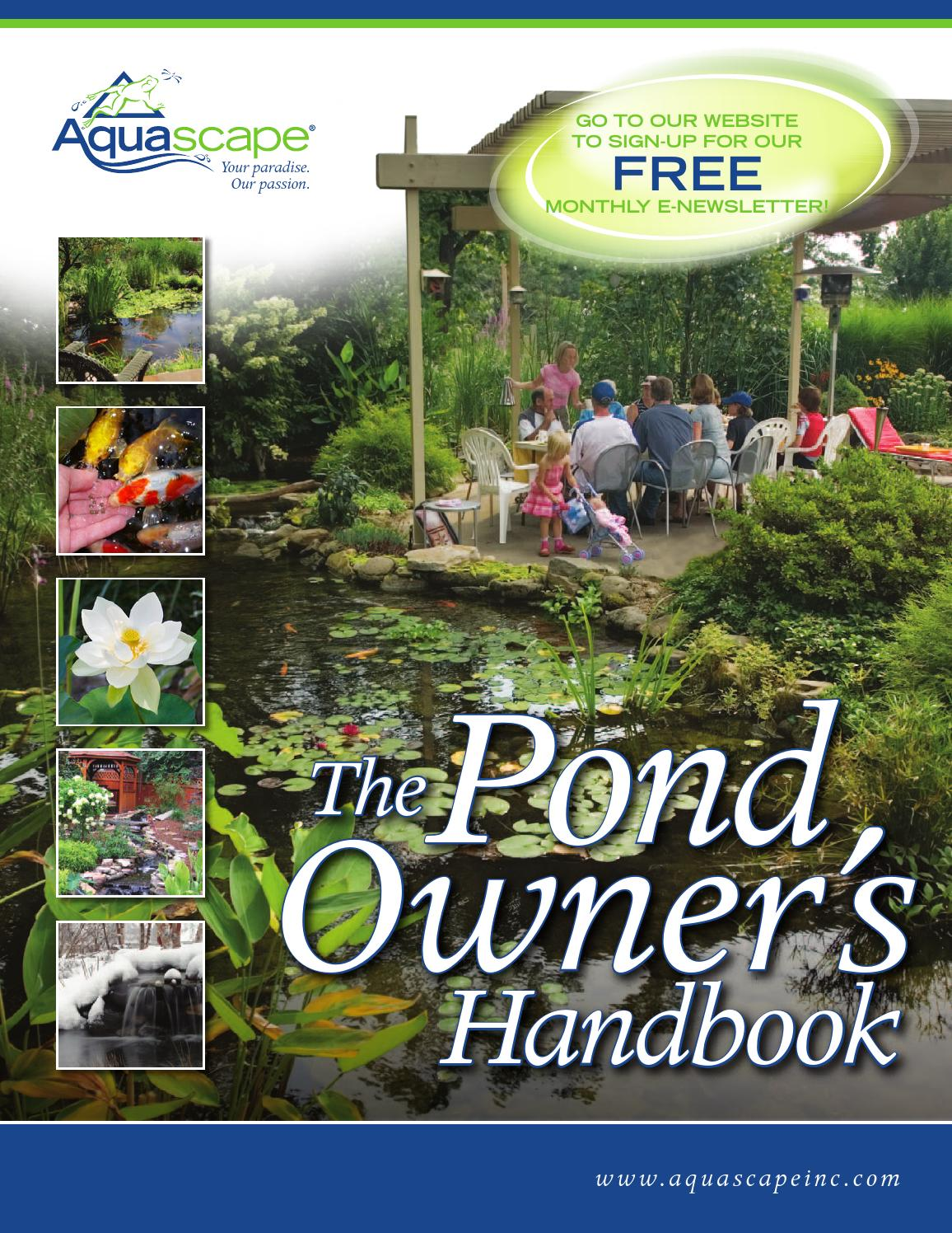 The Pond Owner's Handbook