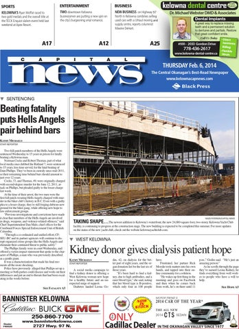 Kelowna Capital News, February 06, 2014 by Black Press Media