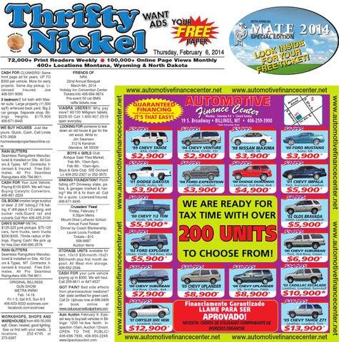 Thrifty Nickel Feb 6 By Billings Gazette Issuu