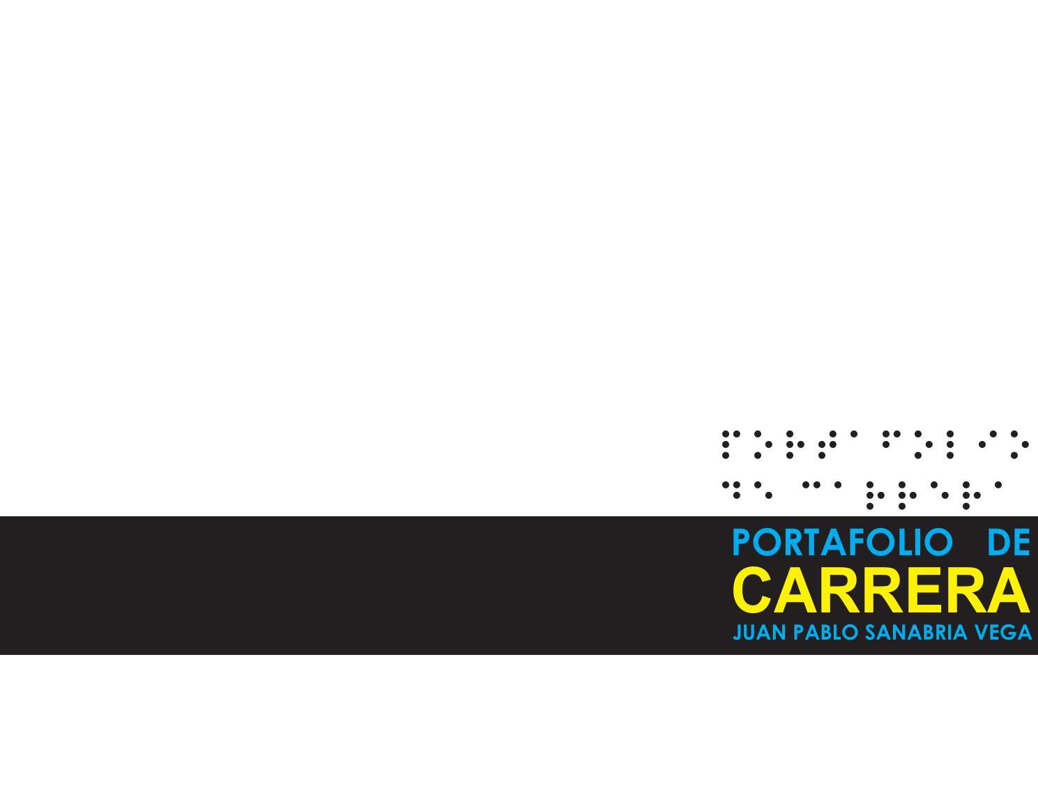 Portafolio de Carrera by juan pablo sanabria - issuu