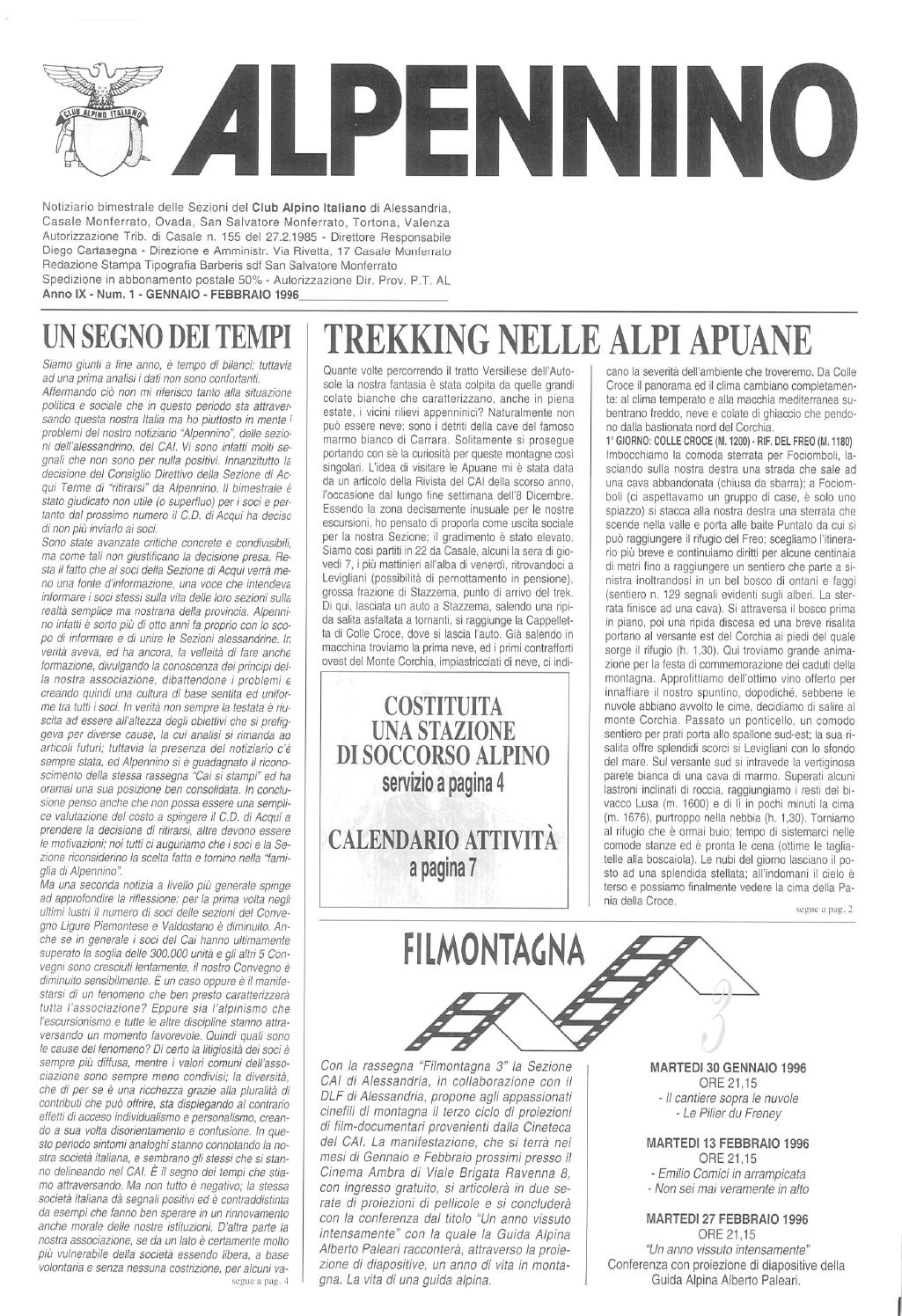 Calendario 1996.Alpennino 1996 N 1 By Federico Omodeo Issuu