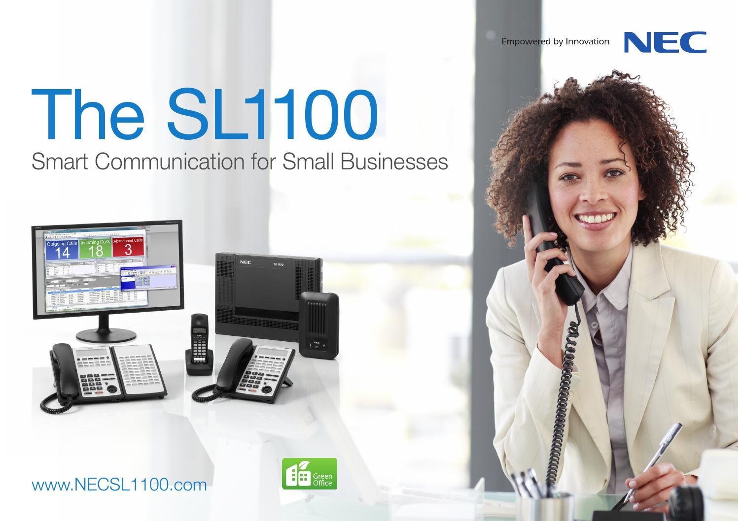 Nec sl1100 brochure by CenterCityCommunications - issuu