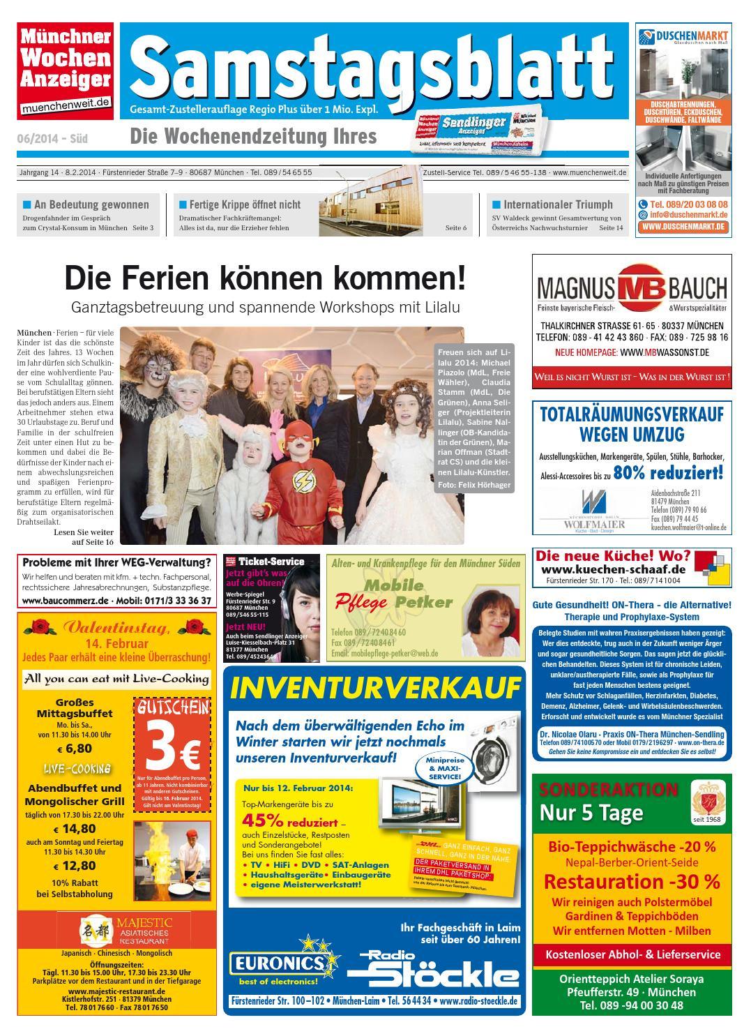 3af65ffcc54314 KW 06-2014 by Wochenanzeiger Medien GmbH - issuu