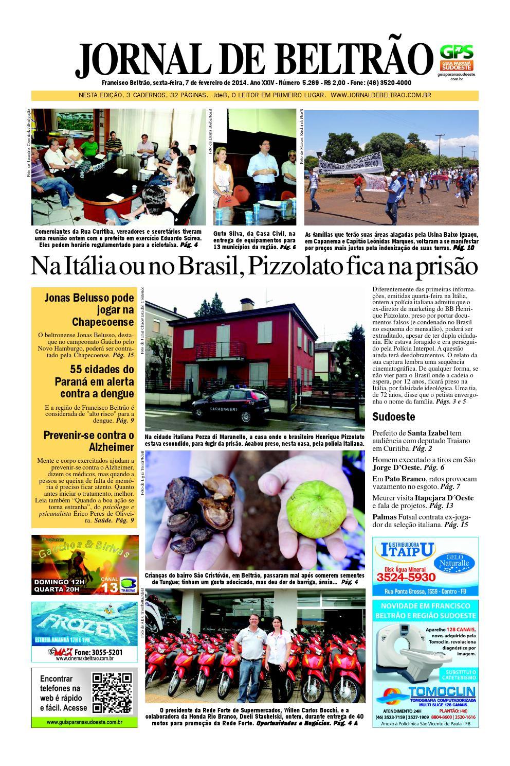 Jornaldebeltrão 5269 2014 02 07 by Orangotoe - issuu 989e08eb54612