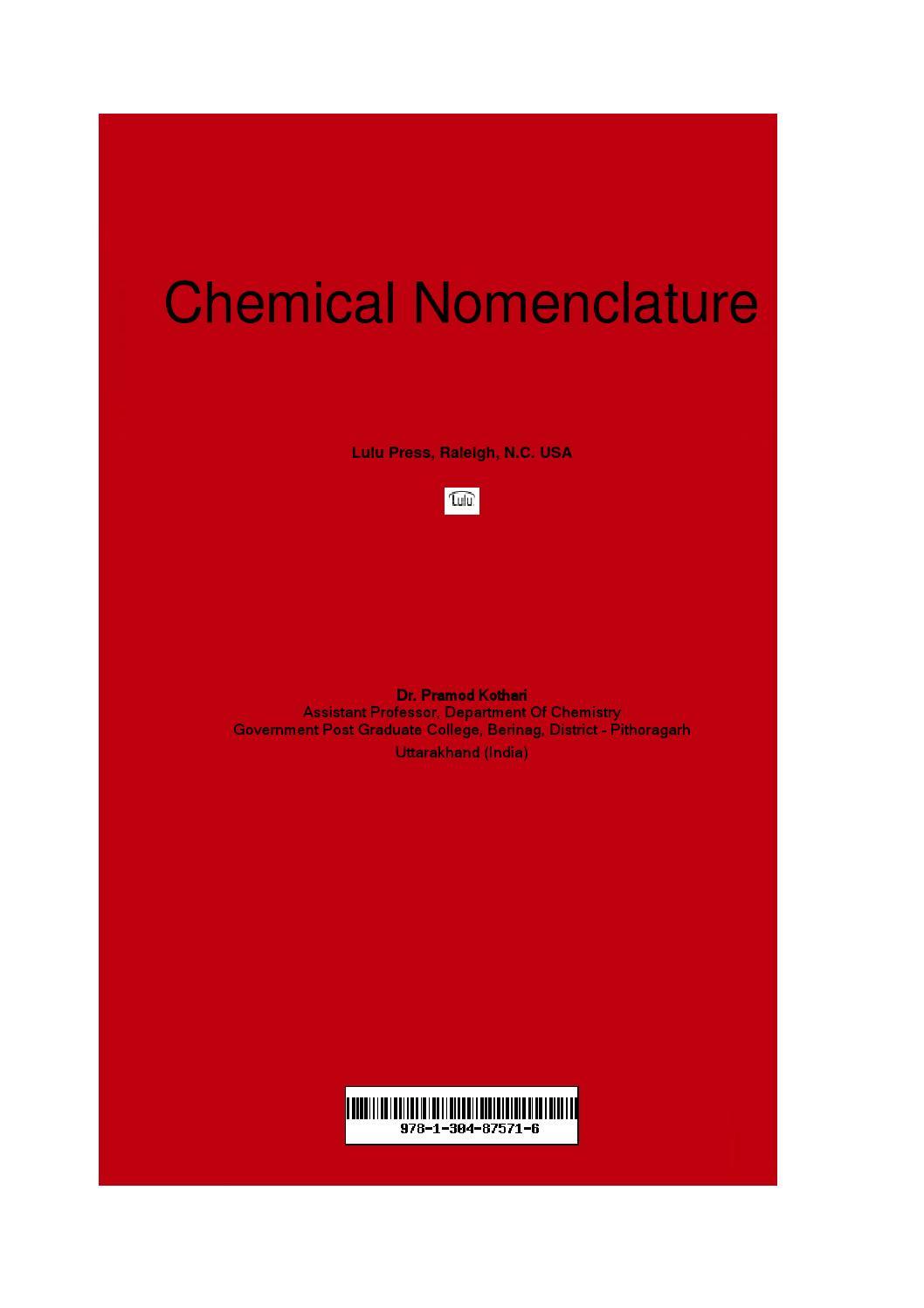 Chemical Nomenclature By Pramod Kothari Issuu Structure Of A Bacterium Image Marianaruiz Villarreal
