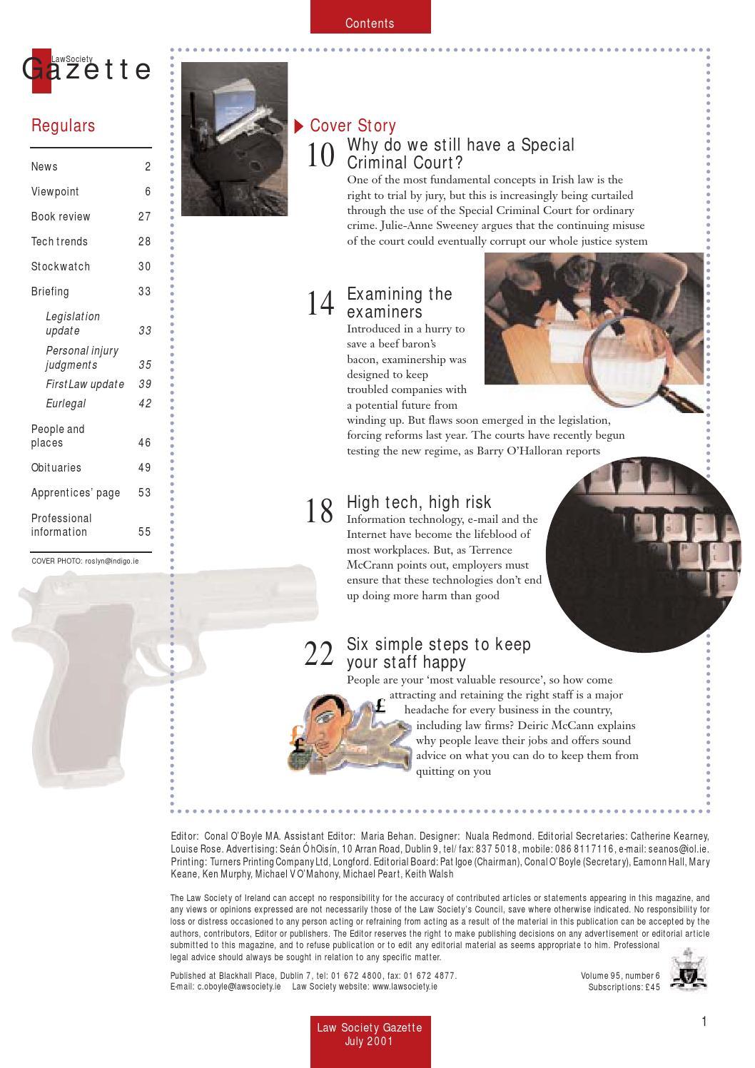 July 2001 by Law Society Gazette - issuu