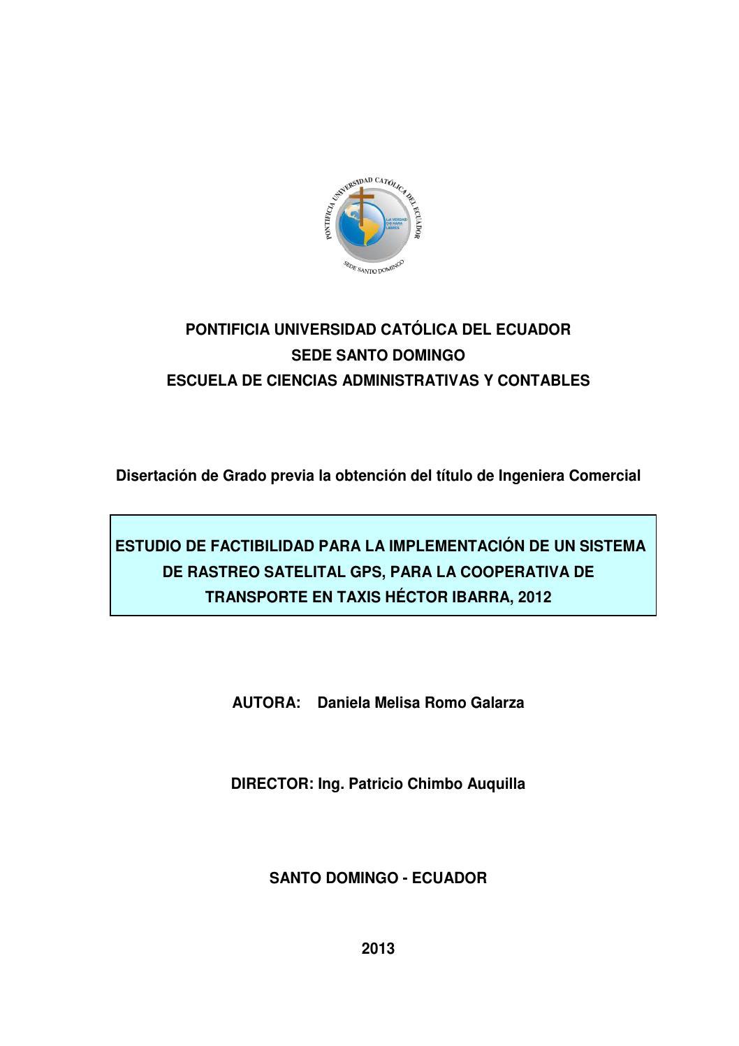 Estudio de factibilidad para la implementación de un sistema de ...