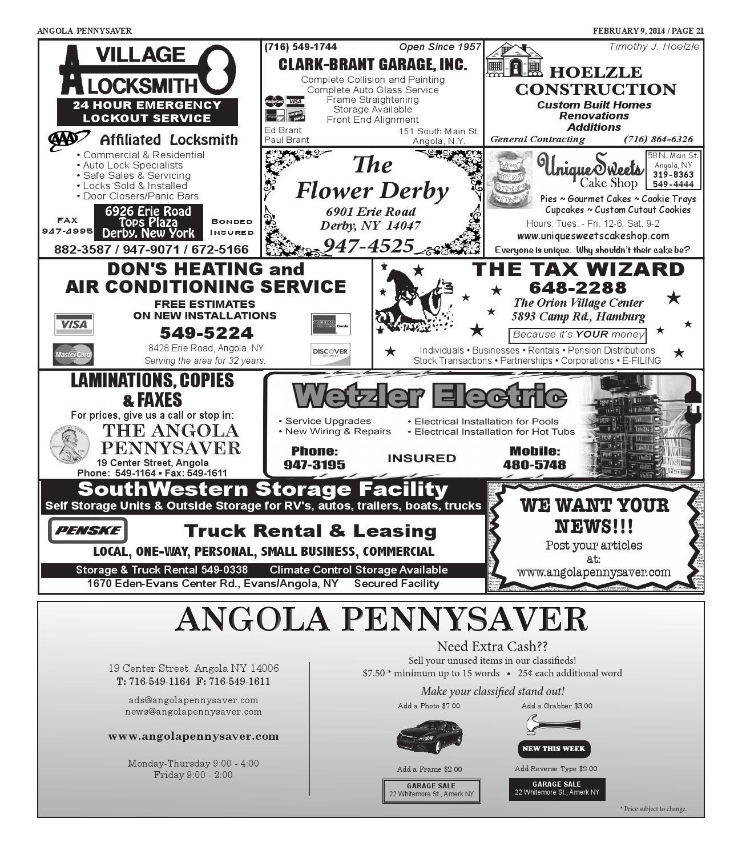2 9 14 Angola Pennysaver By Angola Pennysaver Issuu