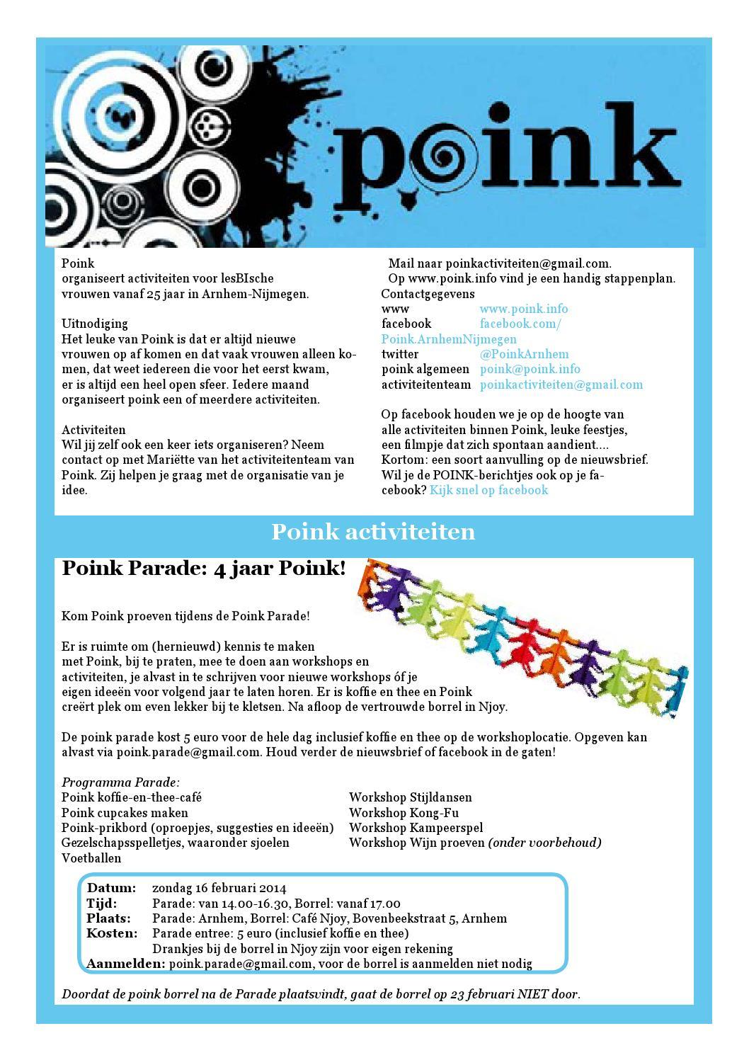 Poink nieuwsbrief februari 2014 by Poink Arnhem - issuu