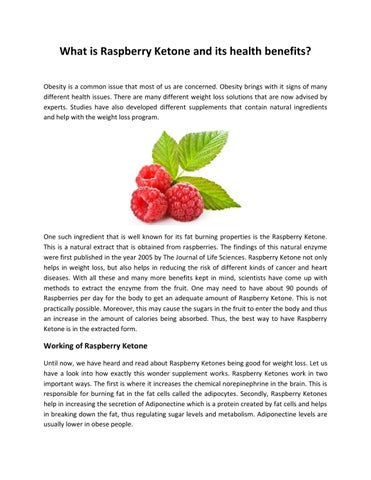 What Is Raspberry Ketone And Its Health Benefits By James Hundson