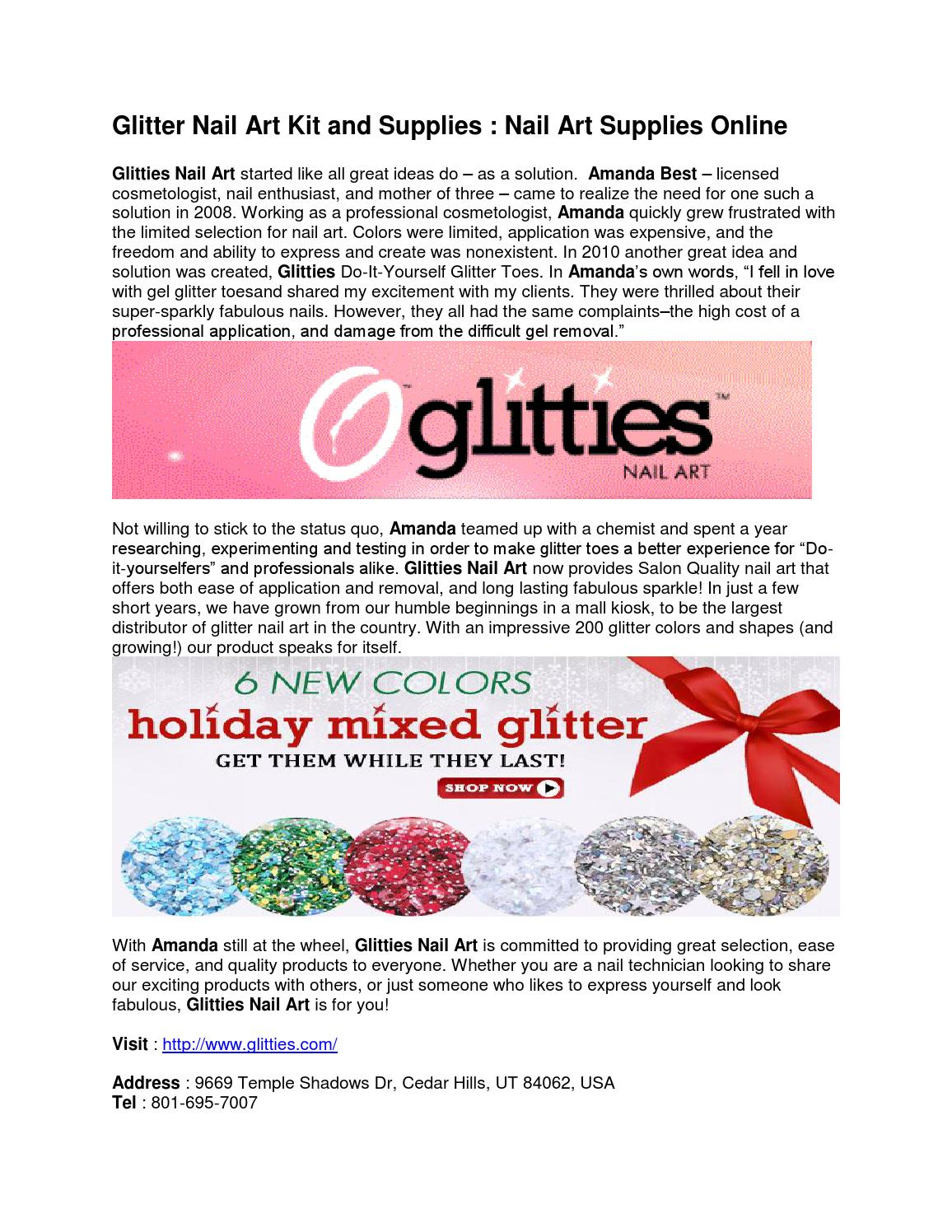 Glitter Nail Art Kit And Supplies Nail Art Supplies Online By