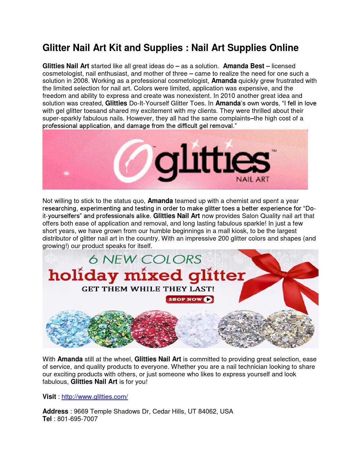 Glitter nail art kit and supplies nail art supplies online by ...