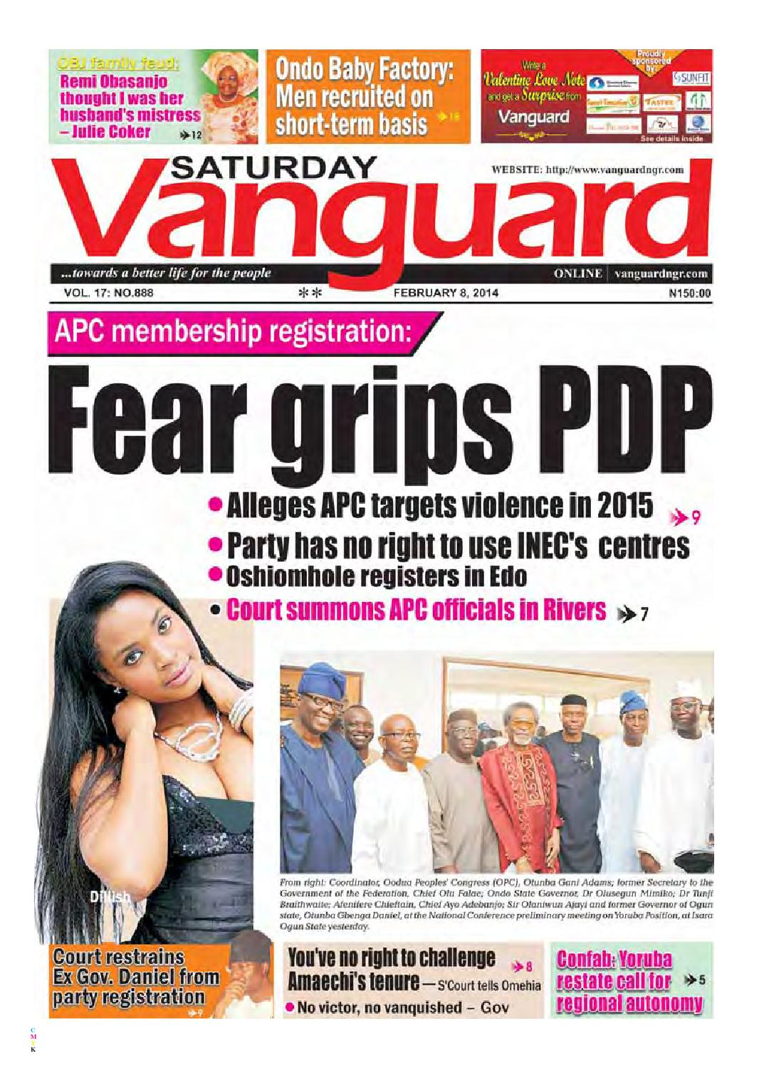APC members registration: Fear grips PDP by Vanguard Media Limited - issuu