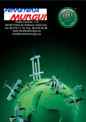200 x 150 mm Kukko 207-01 Extractor combinado de 2 /ó 3 patas articuladas y profundidad regulable