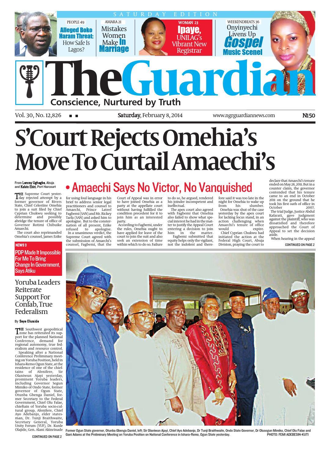 b12ca59339 Sat 08 Feb 2014 by The Guardian Newspaper - issuu