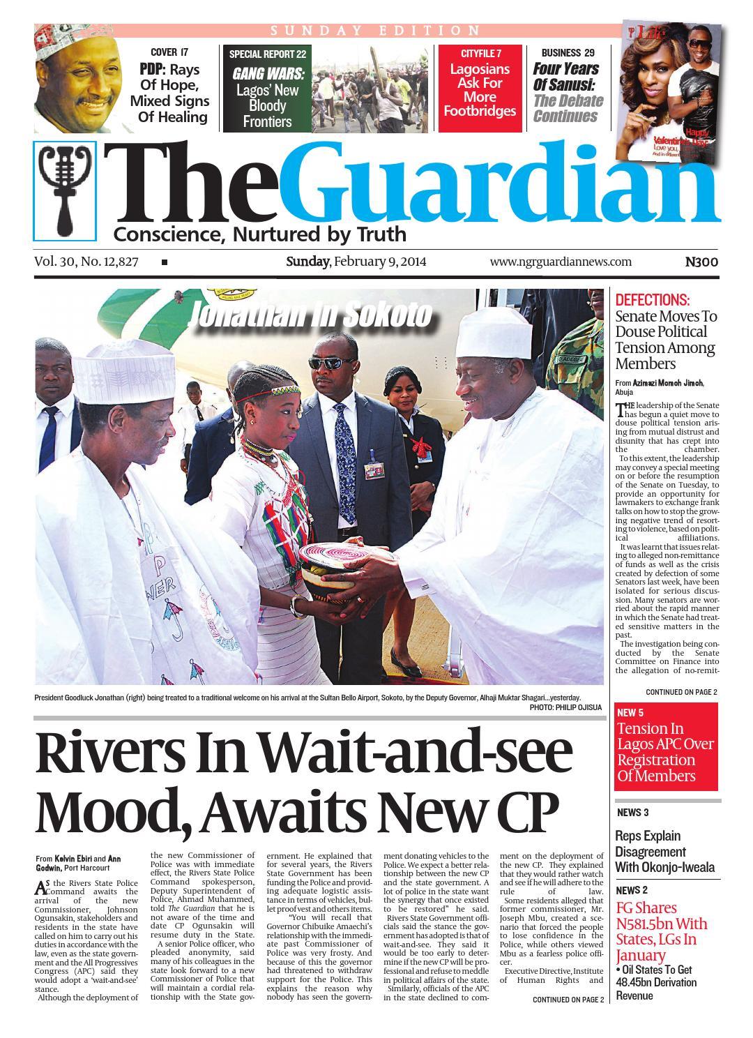 SUN 09 Feb 2014 by The Guardian Newspaper - issuu
