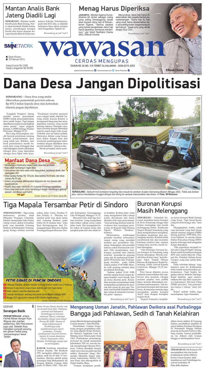 Wawasan 10 Februari 2014 By Koran Pagi Issuu Kopibubuk Robusta Toko Rezeki Akumandiri Malang