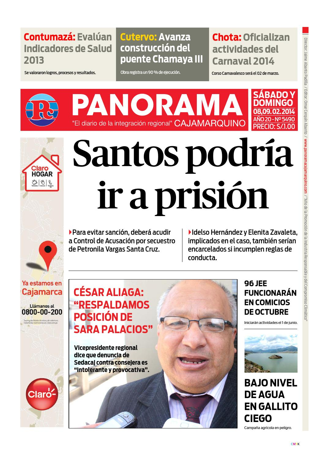 Diario 08 02 2014 by Panorama Cajamarquino - issuu