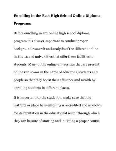 why is a high school diploma so important