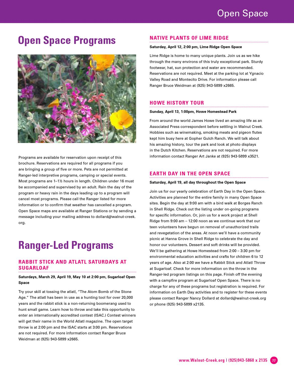 Walnut Creek Guide to Arts + Rec Spring 2014 by City of