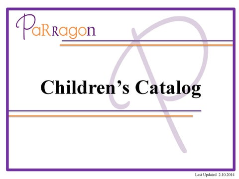 Parragon Childrens Catalog By