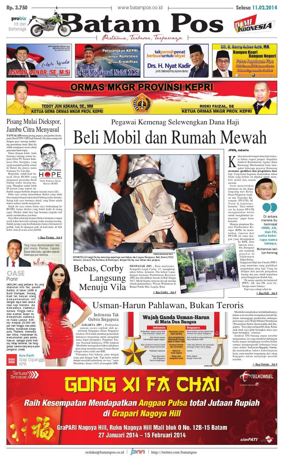 11 Februari 2014 By Batampos Newspaper Issuu Bra Set Wanita Sexy Transparan Metalik 8302