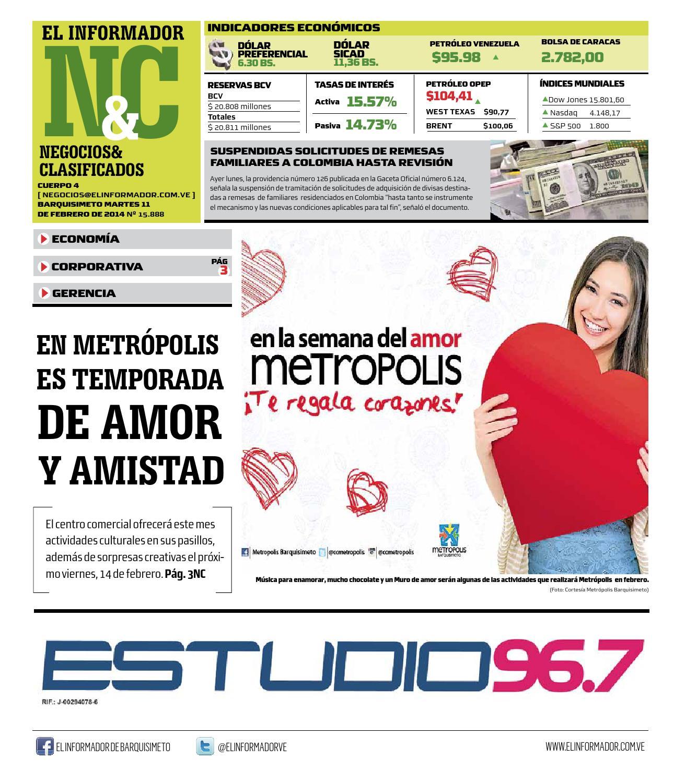 Clasificados 11 02 2014 by El Informador - Diario online Venezolano ...