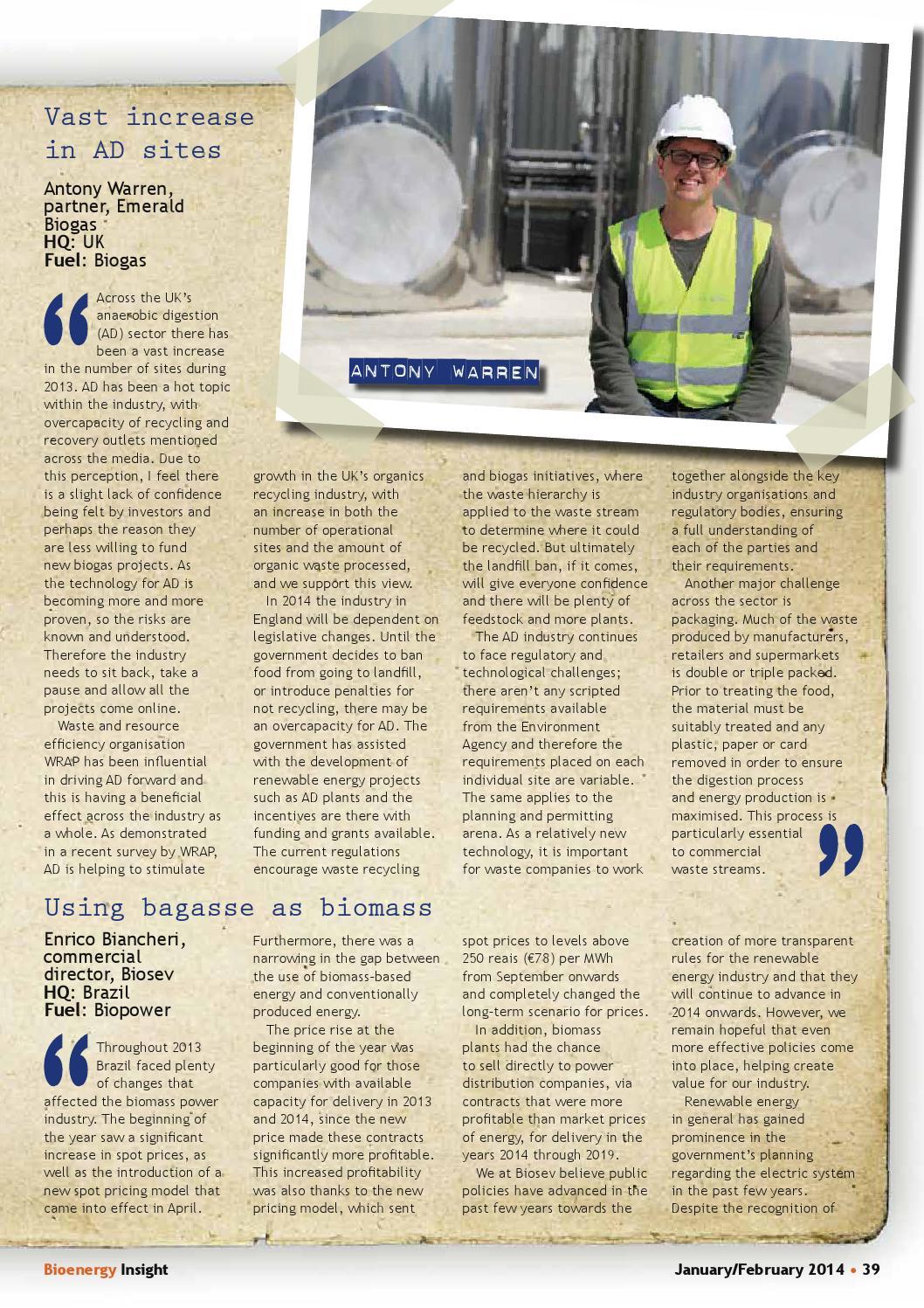 Bioenergy Insight Jan/Feb 2014 by Woodcote Media Ltd - issuu