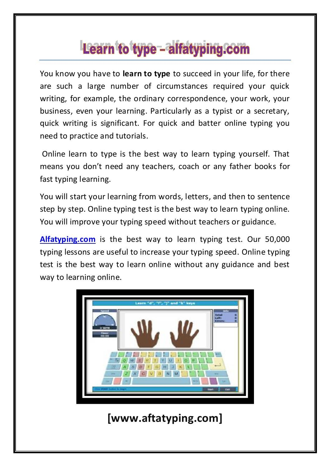 learning typing programs