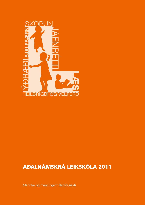 Myndaniðurstaða fyrir aðalnámskrá leikskóla 2011