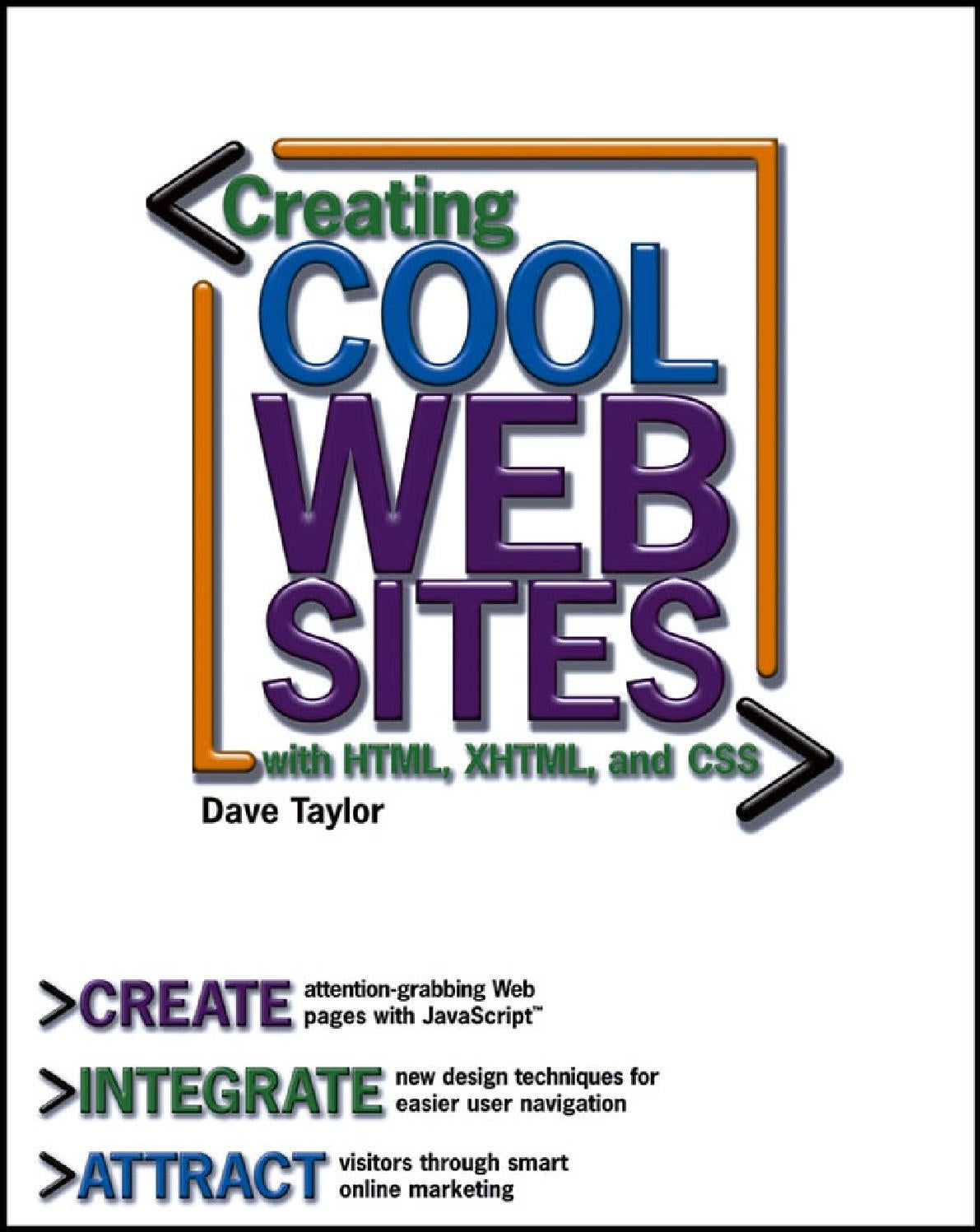 Web design creating cool web sites with html, xhtml, and css by Chu ...