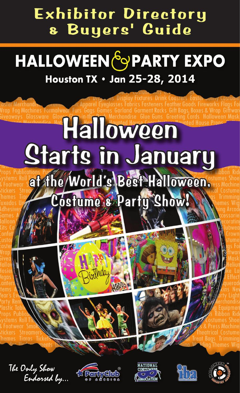2014 Exhibitor Directory & Buyers' Guide by Halloween & Party Expo ...