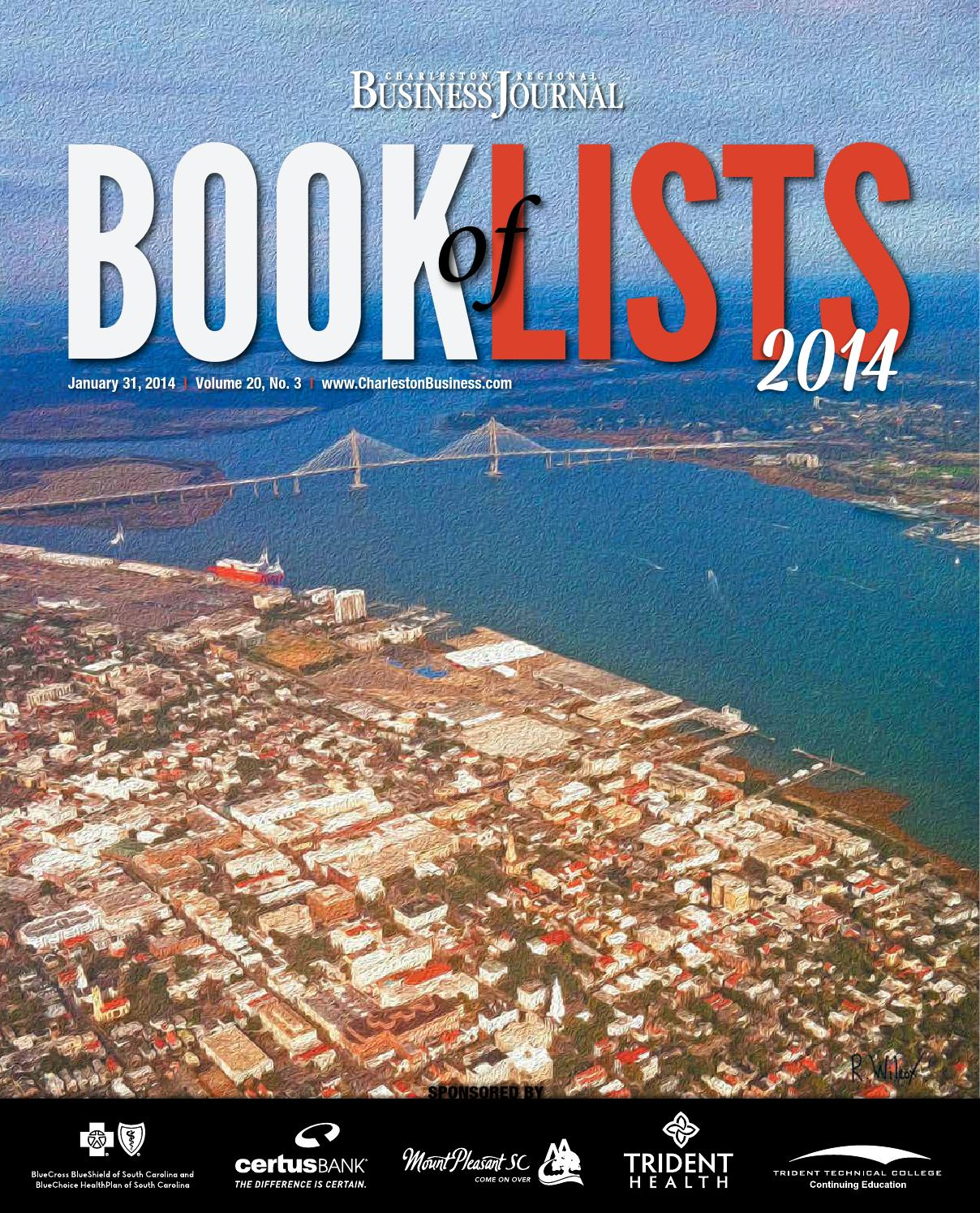 2014 Charleston Book of Lists by SC BIZ News - issuu