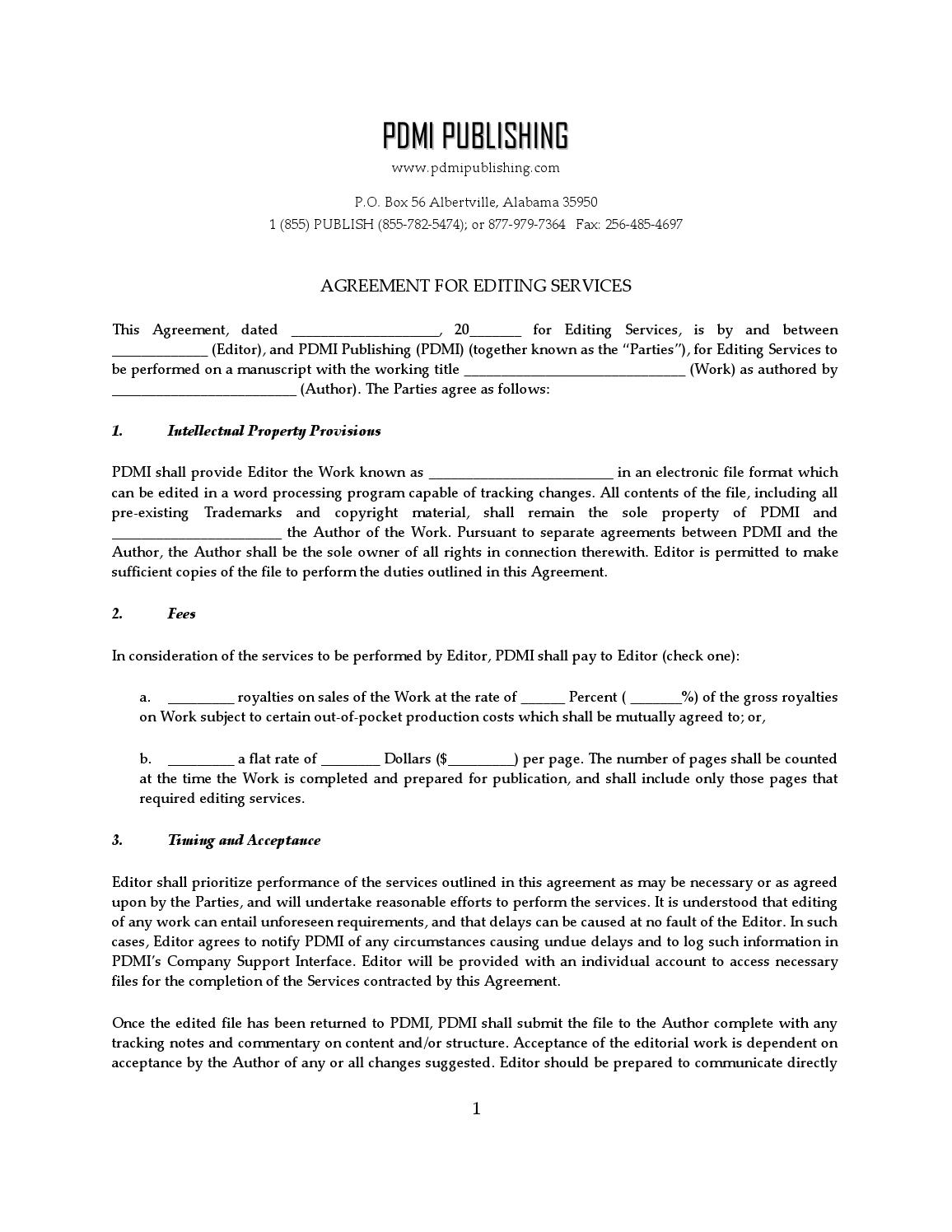 page_1 Template Letter For Contract Work on
