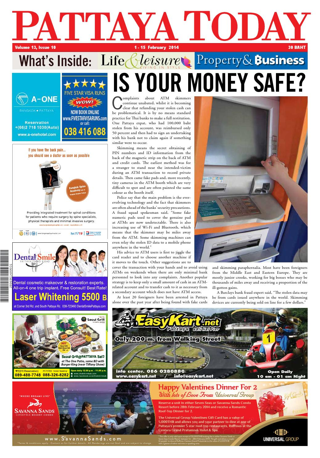 Vol 13 issue 10 1 15 february 2014 by Pattaya Today - issuu