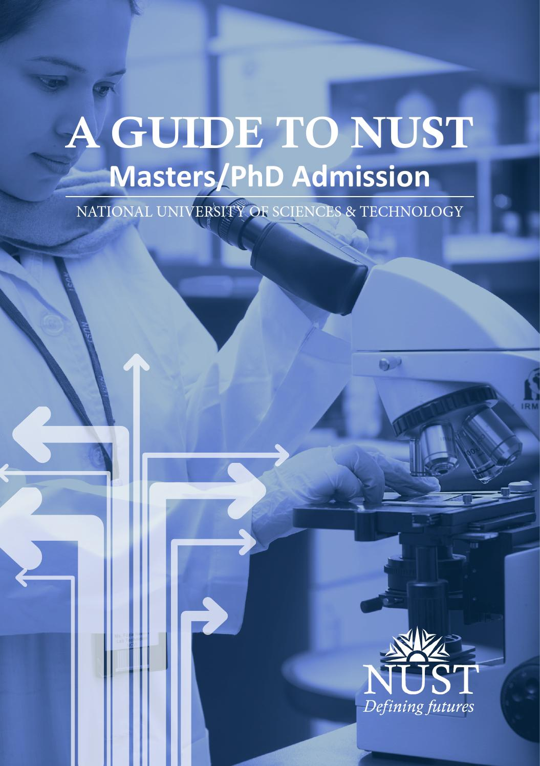 A Guide to NUST Postgrad Masters/PhD Admission by kareem