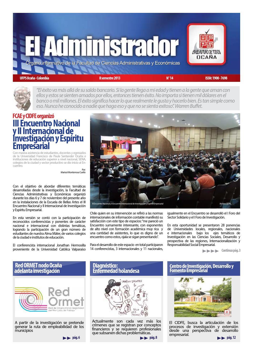 El Administrador by Universidad Francisco de Paula Santander Ocaña ...