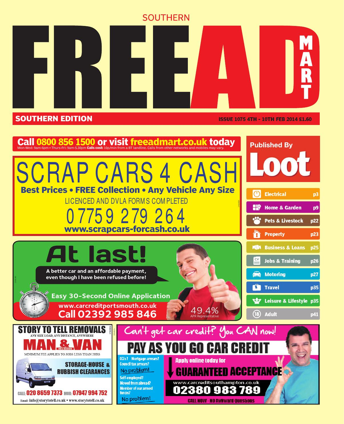 Free ad mart southern 4th february 2014 by loot issuu fandeluxe Gallery