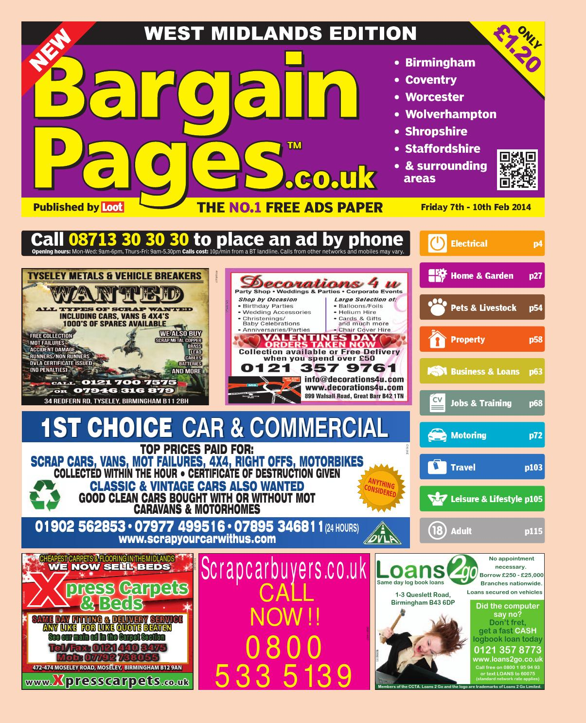 Bargain Pages Midlands, 7th February 2014 by Loot issuu