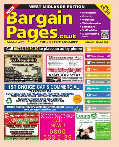 cf9e99102a3 Bargain Pages Midlands, 7th February 2014 by Loot - issuu