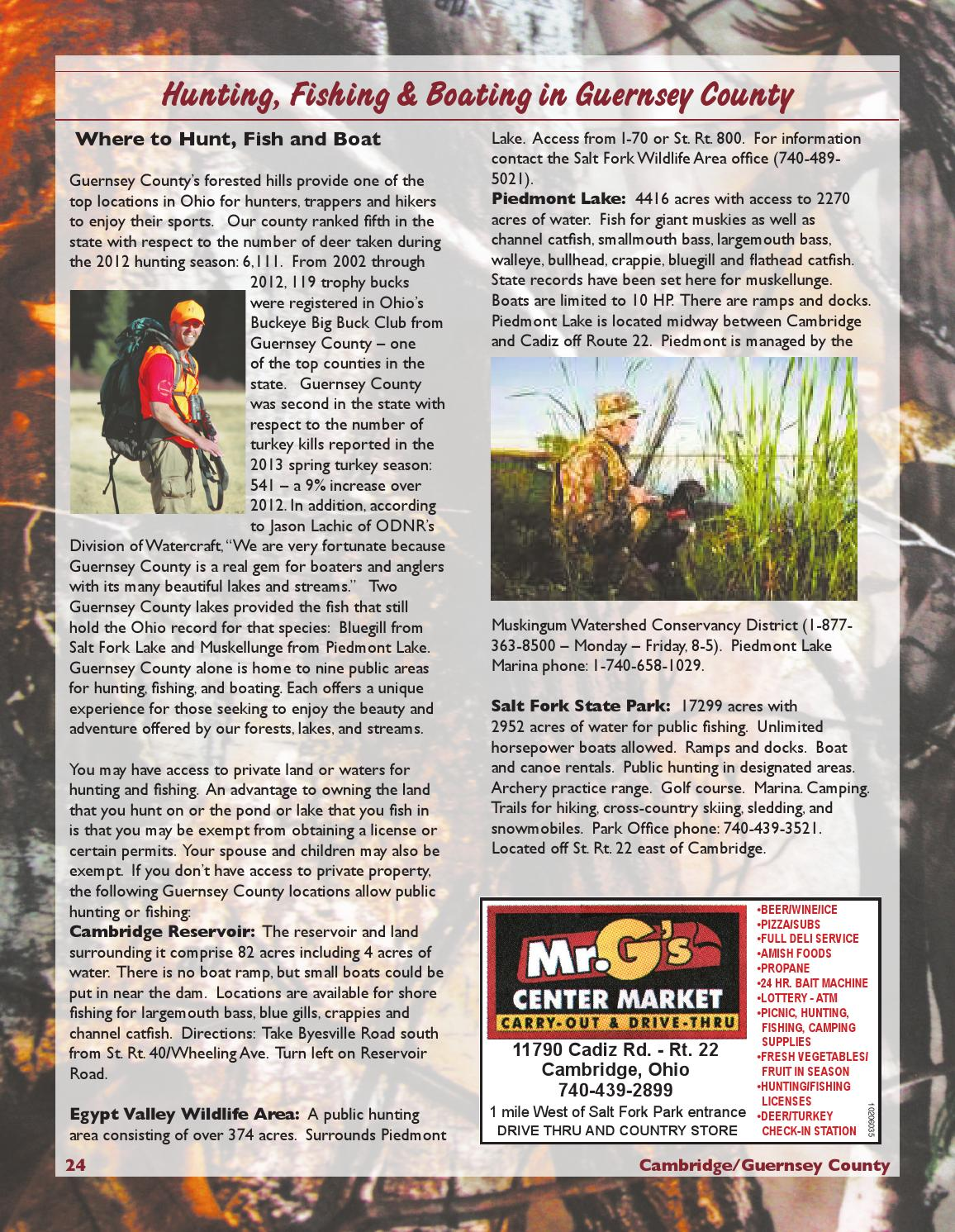 2014 Cambridge/Guernsey County Visitors & Hunting Guide by