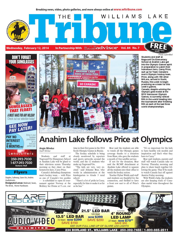 Williams Lake Tribune, February 12, 2014 by Black Press