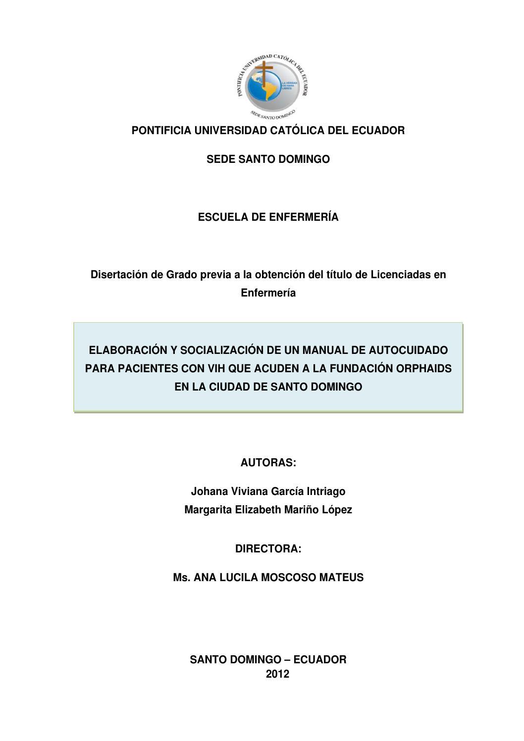 Elaboración y socialización de un manual de autocuidado para ...