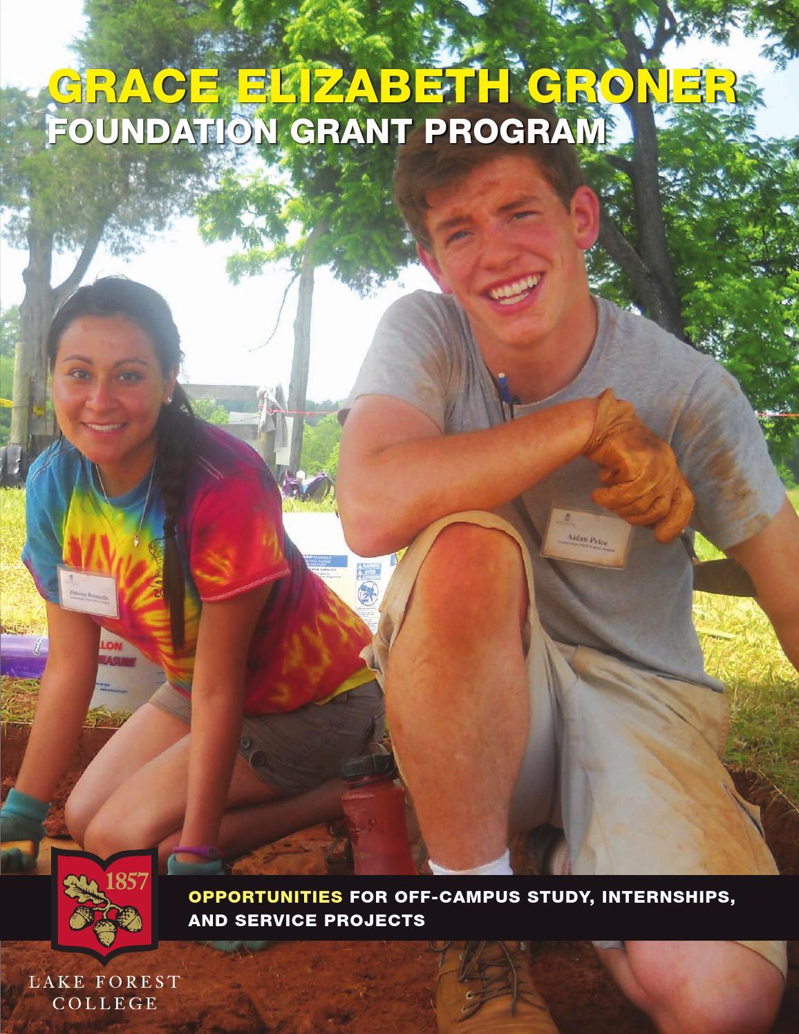 Groner Foundation Program 2014 By Lake Forest College border=