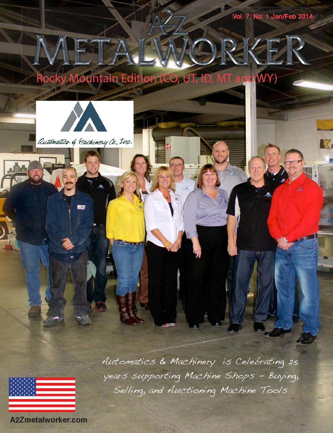 A2Z Metalworker Rocky Mtn Edition jan feb 2014 by A2Z