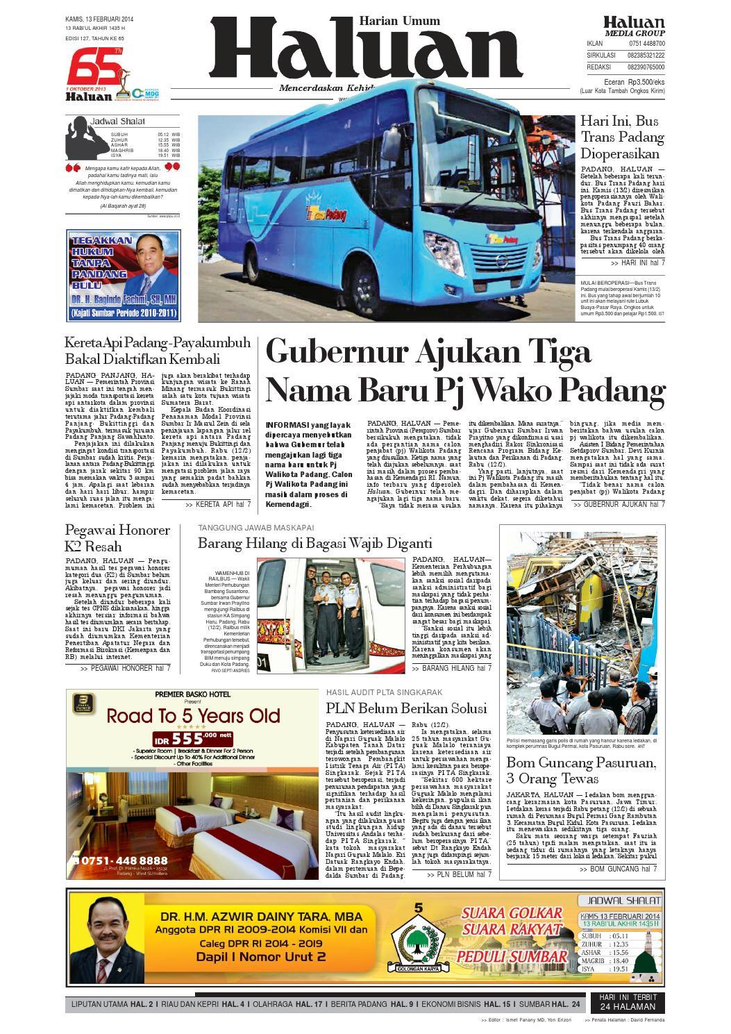 Haluan 13 Februari 2014 by Harian Haluan - issuu f64193af45