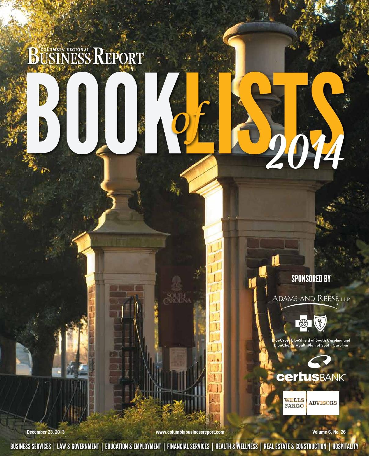 Columbia Regional Business Report 2014 Book of Lists2014columbiabol ...