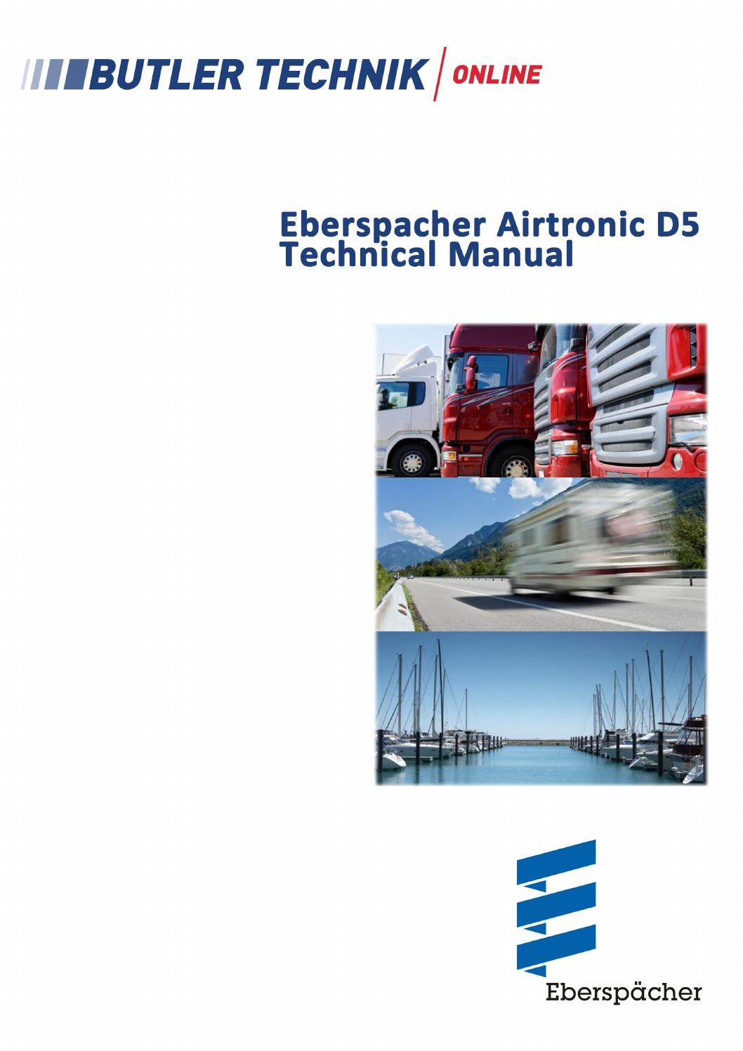 Eberspacher Airtronic D5 Technical Manual by butlertechnik - issuu